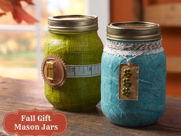 Mason jar crafts: make gift jars for fall
