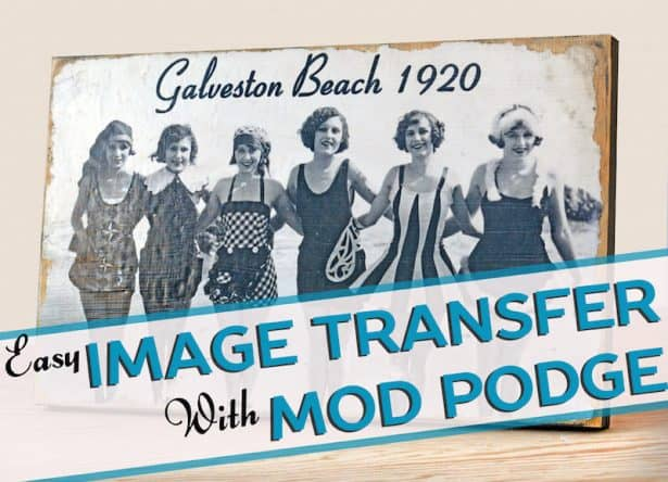 Learn how to transfer photos to wood in three simple steps! All you need is your favorite photo and Mod Podge photo transfer medium. It's easy.
