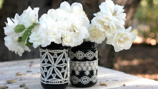 DIY Lace Mason Jars: Pretty Decor in Minutes