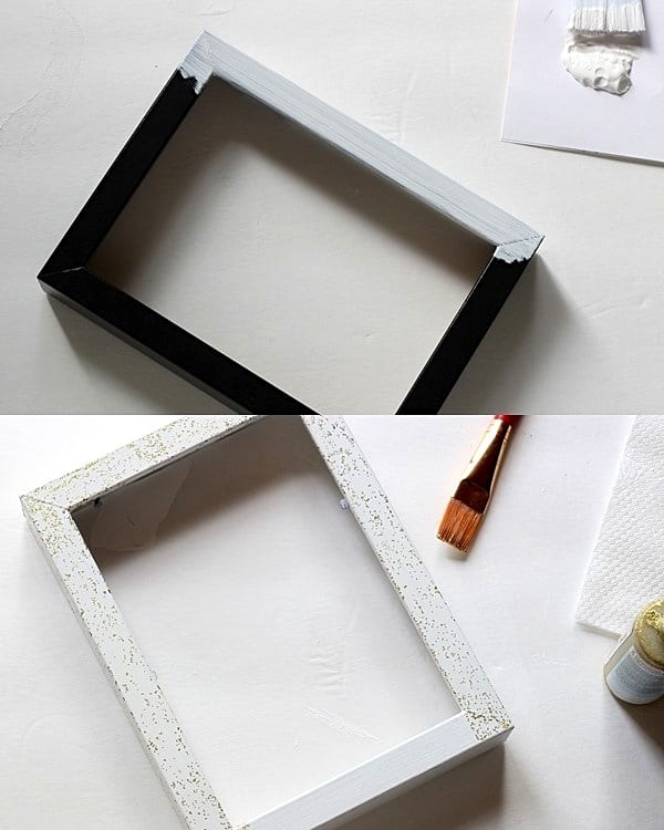 Paint a frame white