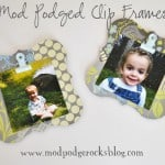 The easiest way to make a clip frame - ever! Just use Mod Podge.