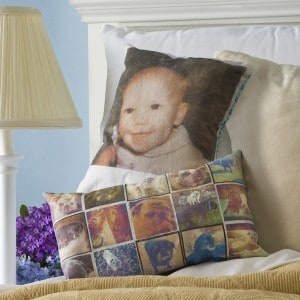 Photo Pillows with Mod Podge Photo Trans...