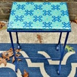Mod Podged outdoor tabletop