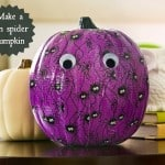 Make a fun spider pumpkin using duck tape