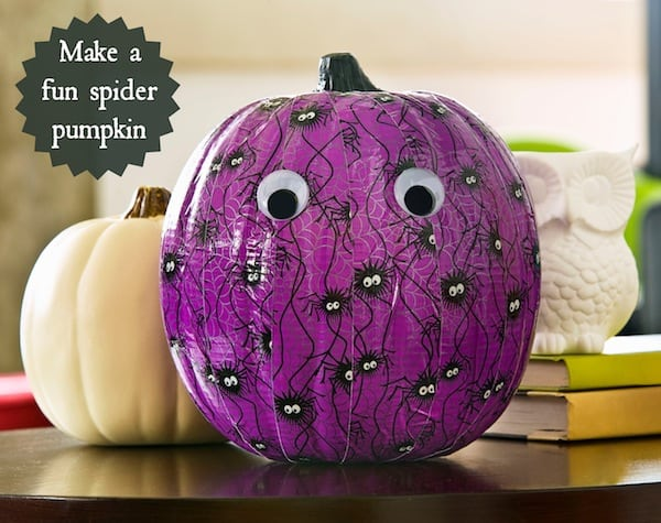 How to decorate a pumpkin with Duck Tape