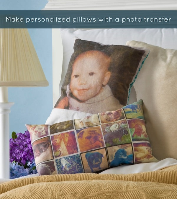 Personalized Photo Pillows with Mod Podge Photo Transfer Medium