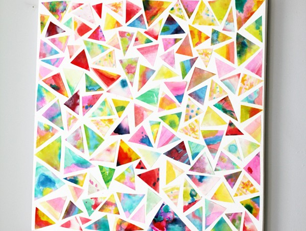 Make watercolor geometric wall art