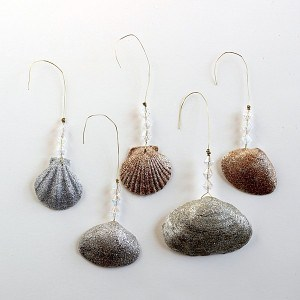 DIY seashell ornaments for Christmas