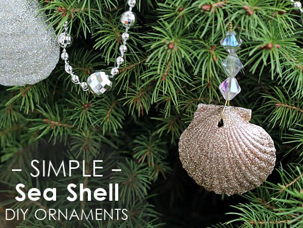 Glittery Seashell Ornaments the Easy Way!