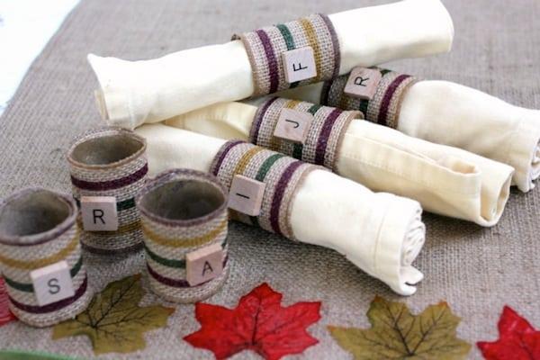 Diy Napkin Rings From Paper Towel Rolls Mod Podge Rocks