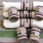 DIY paper towel napkin rings