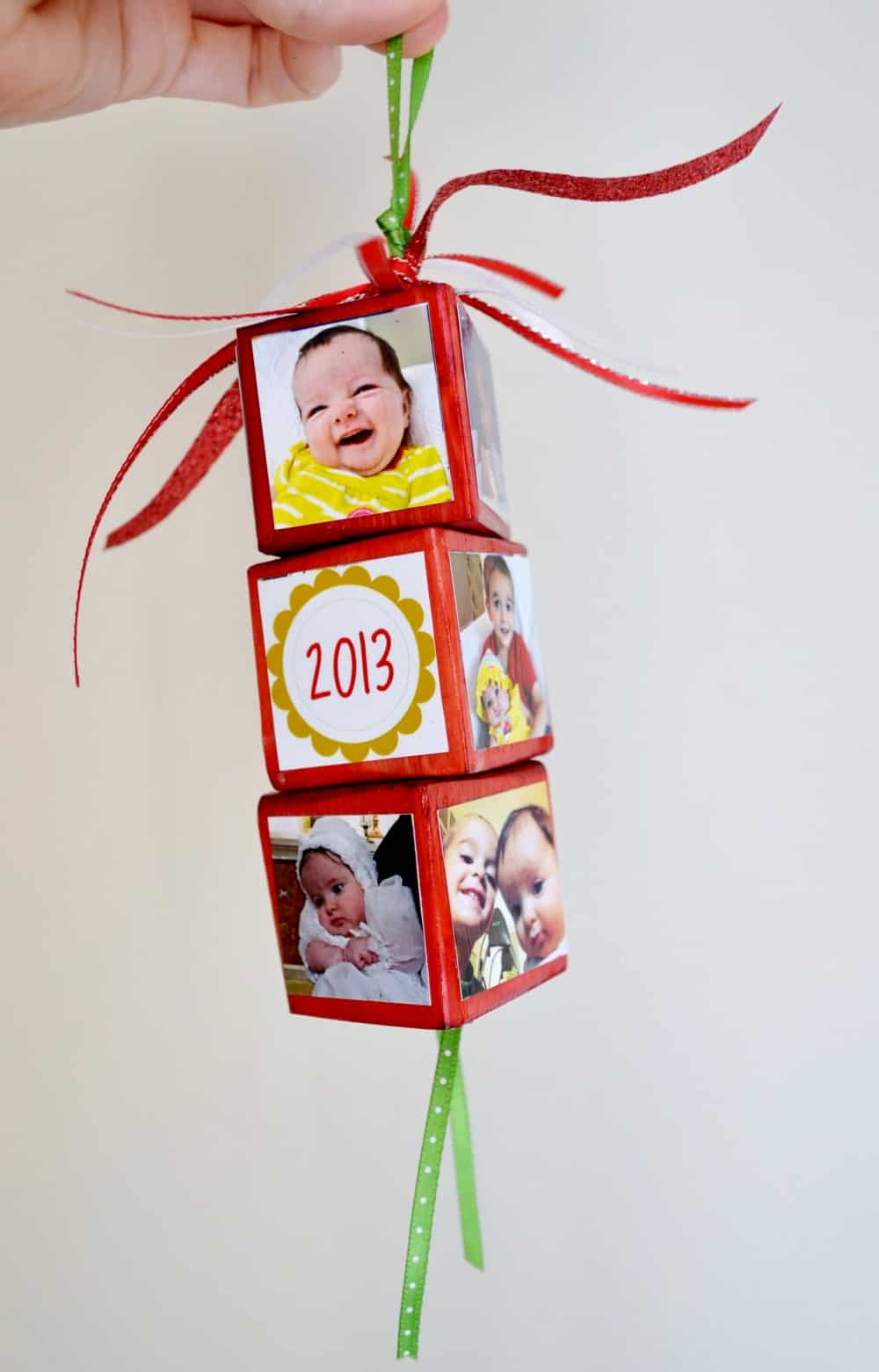 Create festive, personalized Christmas ornaments using your favorite photos, wood blocks and Mod Podge. These make great gifts!
