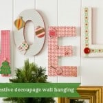 Easy NOEL Christmas wall hanging