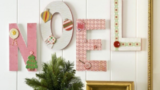 Easy NOEL Letters Christmas Wall Hanging