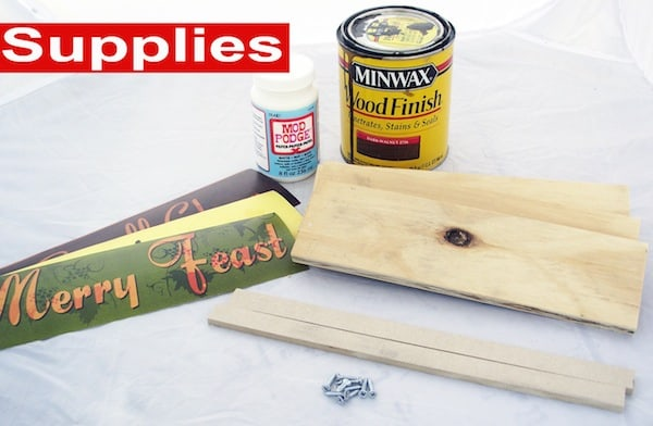 Thanksgiving sign supplies