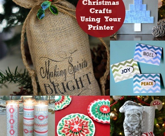10 Christmas Crafts Using Your Printer