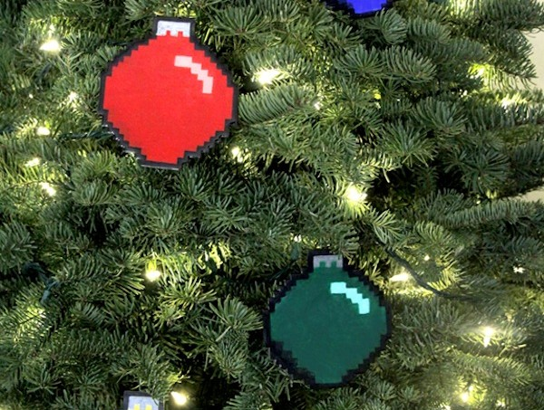 8 bit ornaments using Mod Podge Dimensional Magic