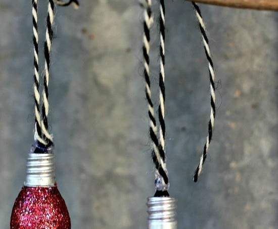 Christmas ornaments from night light bulbs