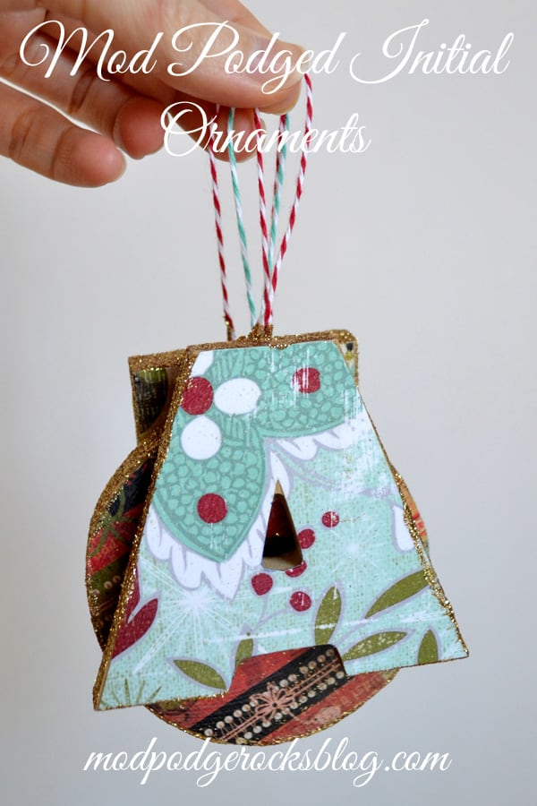 Use wood or paper mache to create these fun, personalized decoupage letter ornaments. They are easy to make with Mod Podge Gloss.