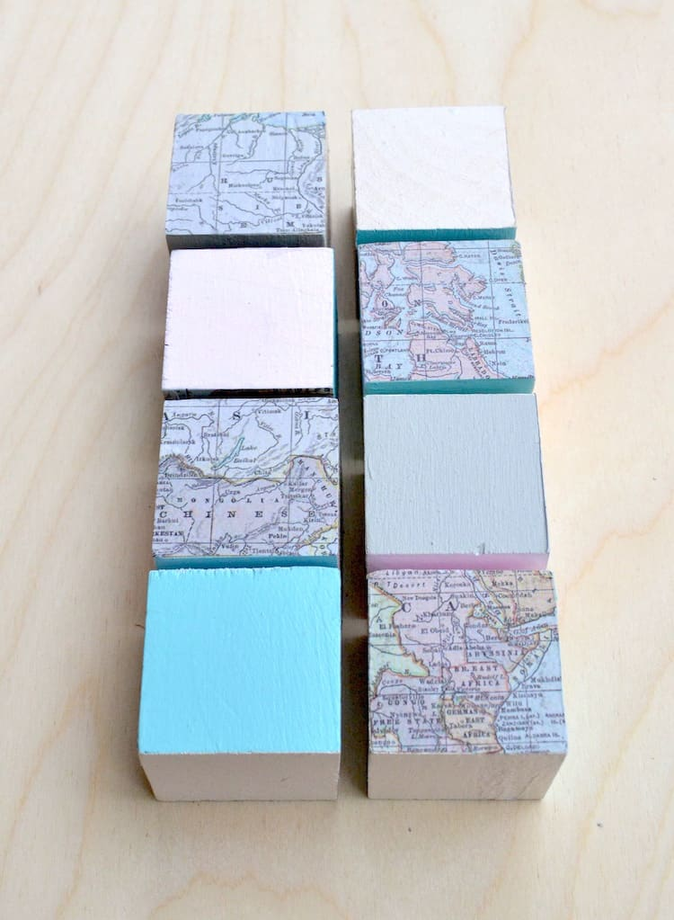 Mod Podge Toy Map Blocks Mod Podge Rocks