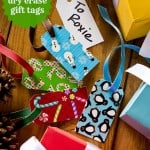 These Duck Tape gift tags are so easy to make - and are dry erase on one side. You'll love being able to use these again and again!