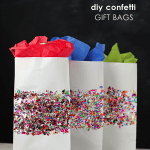 Gift wrap ideas - DIY confetti bags