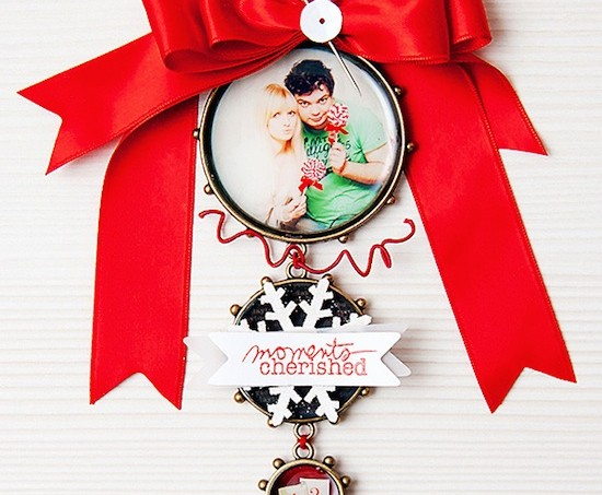 Personalized mixed media ornament