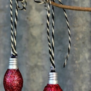 Christmas ornaments from night light bul...