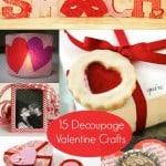 15 loveable decoupage crafts for Valentine's Day