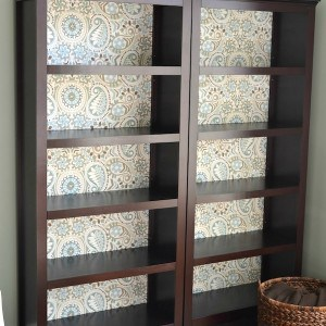 Brighten up a shelf with fabric in this fun decoupage bookcase project! You'll be surprised at how easy it is to do with Mod Podge.