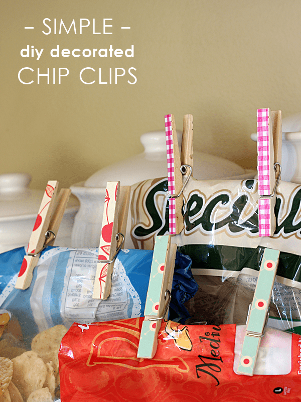 Simple storage: turn clothespins into chip clips.