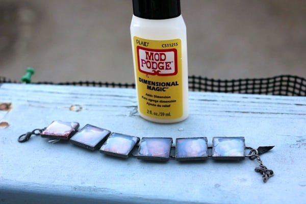Photo bracelet with Mod Podge Dimensional Magic