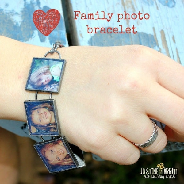 Make a family photo bracelet using Dimensional Magic