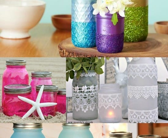 18 unique ways to decoupage mason jars