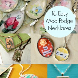 DIY a necklace: 16 easy to decoupage pro...