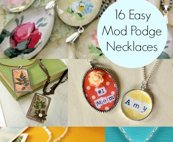 DIY a necklace: 16 easy to decoupage projects