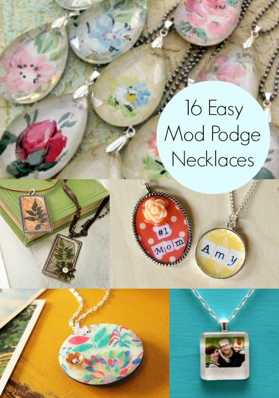 decoupage jewelry 16 easy necklace projects mod podge rocks