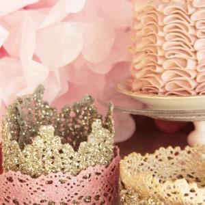 DIY lace crown for a princess