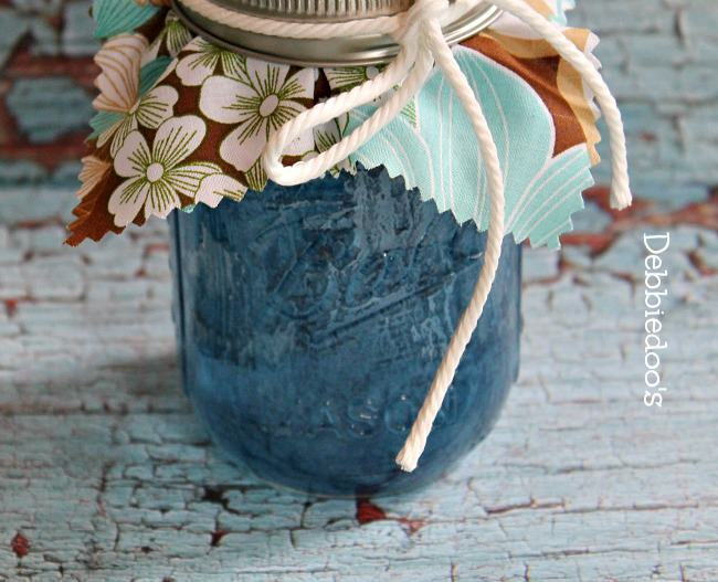 Denim mason jars