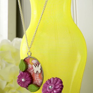 Make a floral necklace and ring with Mod...