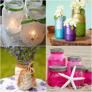 Mason jar crafts with Mod Podge