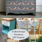 15 Mod Podge Furniture Projects