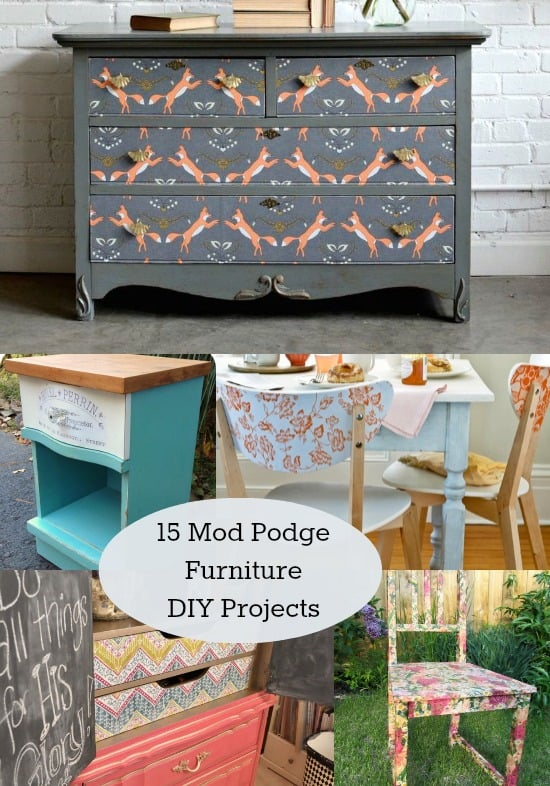 Charmant Ever Tried Mod Podging Furniture? Itu0027s A Great Way To Upcycle A Piece On A
