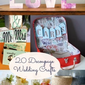 20 decoupage wedding crafts you'll...
