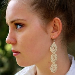 Lace earring DIY with Mod Podge