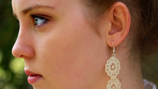 How to Make DIY Lace Earrings (in Three Easy Steps!)