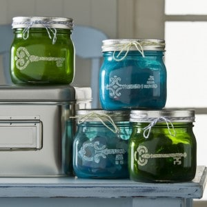Colored Mason Jars with Mod Podge