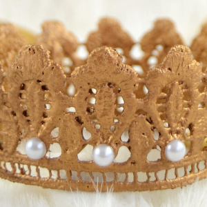 DIY Lace Crown for a Princess