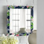 DIY mirror with fabric and decoupage