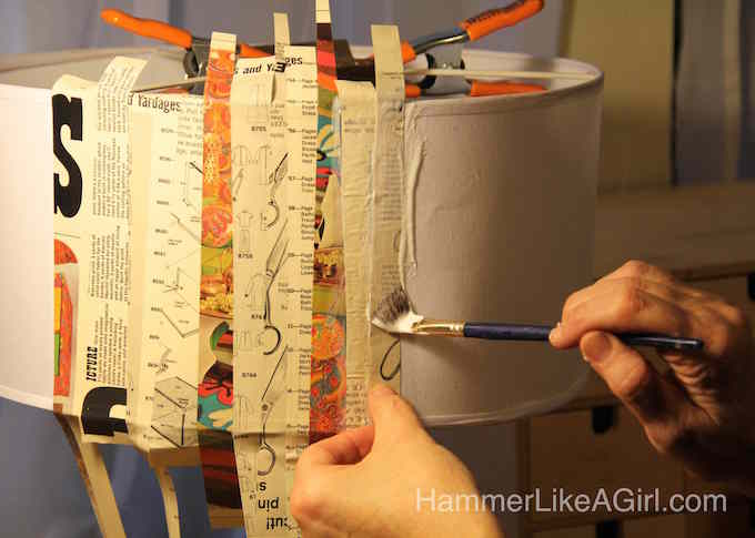 Let Hammer Like a Girl show you how to create a decoupage lampshade with your favorite vintage graphics and patterns. Love the results!
